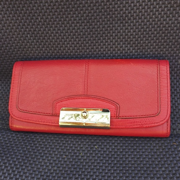 Coach Handbags - Red Coach Kristin Wallet